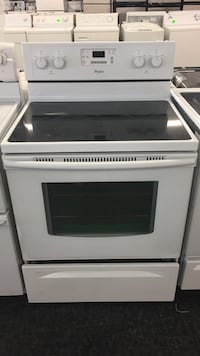 white and black induction range oven Toronto, M3J 3K7