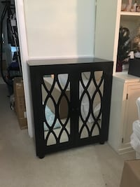 Black cabinet with mirror on door Rockville, 20814