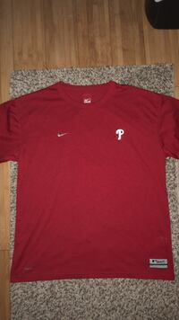Nike Dri Fit MLB Authentic Collection T-Shirt Size L Philadelphia, 19121