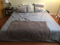 gray and white bed sheet set Colorado Springs, 80905