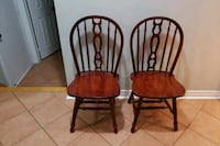 two reddish brown wooden windsor chairs Vaughan, L4K 0C1