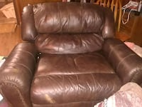 brown leather recliner sofa chair Seale, 36875