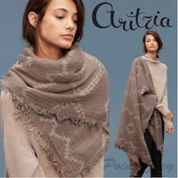 BRAND NEW ARITZIA WILFRED DIAMOND MOSAIC SCARF IN WIND COLOUR