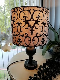 black base brown shade table lamp Citrus Heights, 95621