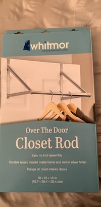 Over the door closet rod