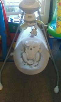 baby's white and gray cradle and swing Salinas, 93901