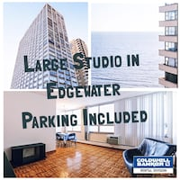 Spacious Studio For Rent in Edgewater! Parking Included! Chicago
