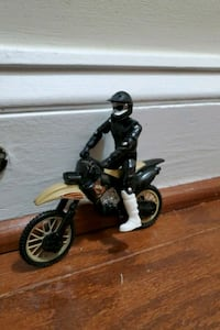 BMX stunt and trick motorcycle with removable BMX rider