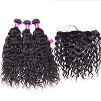 Peruvian Water waves human hair and frontal  Atlanta, 30339