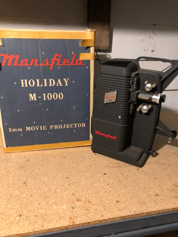 mansfield holiday m-1000 8mm movie projector