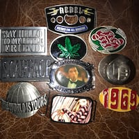 Various belt buckles for sale