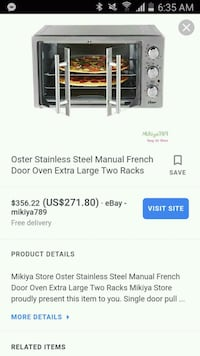 Oster french door convection oven large London, N5V 1Y6
