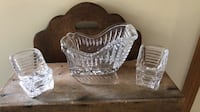 SET OF 3 HEAVY LEAD CRYSTAL GLASS SLEDS Littlestown, 17340