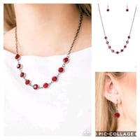 Starlit social red necklace  Gaithersburg