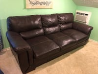 Brown ply leather couch set  Houston, 77064
