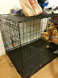 black metal folding dog crate Happy Valley, 97086