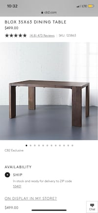 CB2 Dining Table & Chairs