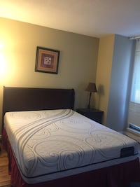 Brand new queen size mattress , box spring and box excellent condition. Too big for our room. Coquitlam, V3B 6X1