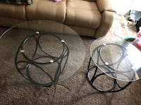 3 Glass Tables, 1 middle, 2 end tables Gaithersburg, 20877