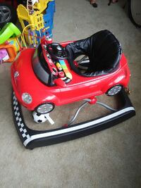 baby's black and red  car theme walker