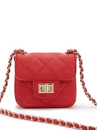 Red small crossbody bag