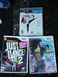 three Nintendo Wii game cases Bakersfield, 93308