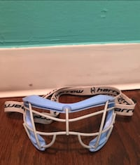 Blue and gray lacrosse face guard River Edge, 07661
