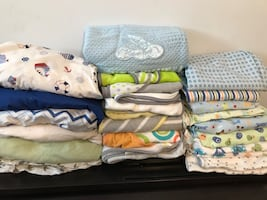 Baby crib linen and towels great conditions