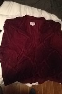 women's maroon cardigan Guilford, 17202