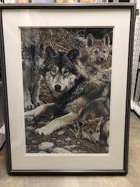 Black and white wolf print Olney, 20832