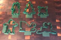 Vintage Green Christmas Cookie Cutters! Six different Christmas Designs!  Cerritos, 90703