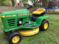green and yellow John Deere ride on lawn mower Aylmer, N5H 1R9