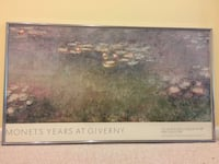Large Framed Claude Monet Water Lily Pond at Giverny Wall Art Tysons
