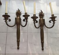 Two large electrical brass wall sconces  Toronto, M2R 3N1