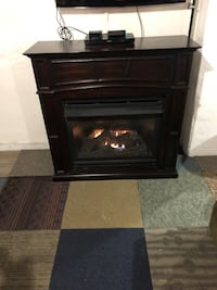 Gas, ventless fire place