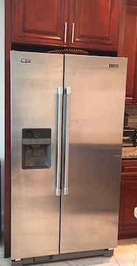 stainless steel side by side refrigerator with dispenser Owings Mills, 21117