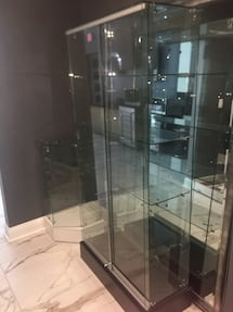 Retail Glass display case tall