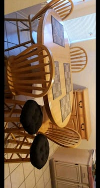 brown wooden table with chairs Fort Hood, 76544