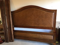 Fancy queen bed frame, used once cost $3k new Encinitas, 92024