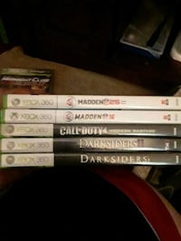 X box 360 with 5 games Sioux Falls, 57104