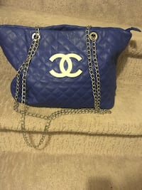 blue and white Chanel leather tote bag Edmonton, T6K 0J8