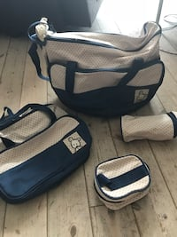 4pc set Diaper bag/ shoulder hardback / stroller  Oslo, 0188
