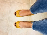 women's studded brown leather open toe Los Angeles, 91344