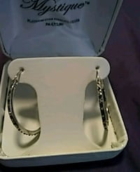 BLACK & WHITE DIAMOND HOOP EARRINGS, BRAND NEW!!! Portland, 97209