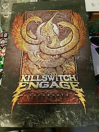 Killswitch Engage promo poster x2 double sided