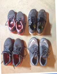 four pairs of assorted shoes null