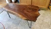 Walnut rough cut coffee table  Des Moines, 50321