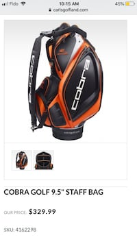 Cobra golf bag, new never used. Call Dave  [PHONE NUMBER HIDDEN] . Pick up Milton , on  Milton, L9T 3X4