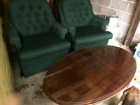 2 hunter green chairs  Trussville, 35173