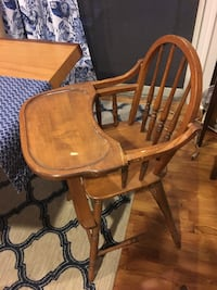 brown wooden windsor rocking chair SANTABARBARA